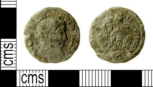IOW-F988B1: Roman Coin: Nummus of Constantine I