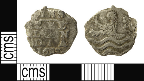 IOW-16F947: Post-Medieval Coin: Zeeland 2-stuivers of the United Provinces of the Netherlands, dated 1681