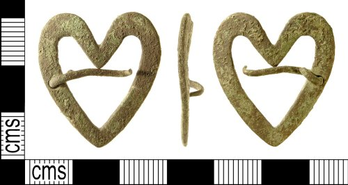 IOW-58FEA4: Medieval Heart-Shaped Brooch