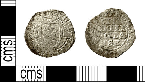 IOW-3CACE6: Post-Medieval Coin: 2 Skilling piece of Christian IV of Denmark and Norway