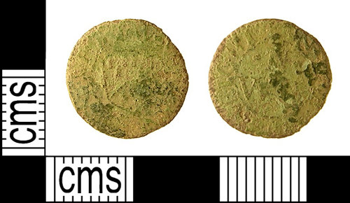 IOW-354E93: Post-Medieval Token Farthing issued by William Newland of Newport, Isle of Wight