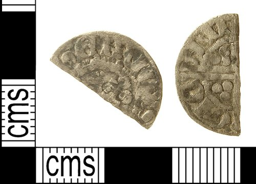 IOW-953877: Medieval Coin: Long Cross Cut Halfpenny of Henry III