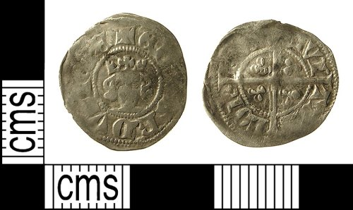 IOW-D98AB2: Medieval Coin: Halfpenny of Edward III