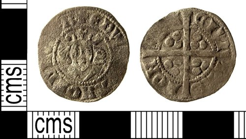 IOW-01A2D4: Medieval Coin: Penny of Edward I
