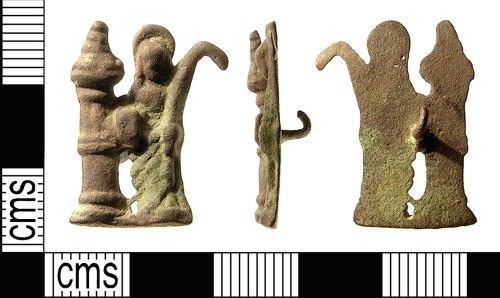 IOW-B00471: Medieval Pilgrim Badge (St. Barbara)