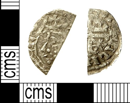 IOW-1DC726: Medieval Coin: Cut Halfpenny of William I of Scotland