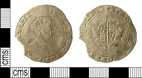 IOW-7899C4: Post-Medieval Coin: Shilling of Edward VI