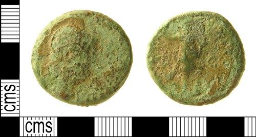 IOW-8C5B91: Roman Coin: Sestertius, possibly of Antoninus Pius or Marcus Aurelius as Caesar