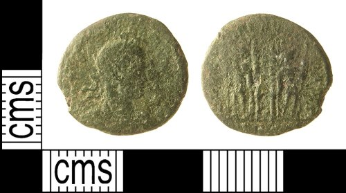 IOW-583844: Roman Coin: Nummus of the House of Constantine