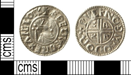 IOW-FC37D4: Early-Medieval (Anglo-Saxon) Coin: Penny of Ethelred II