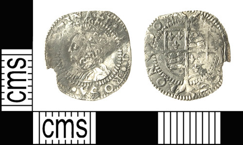 A resized image of IOW-E8A901 Post-Medieval Coin: Penny of Elizabeth I