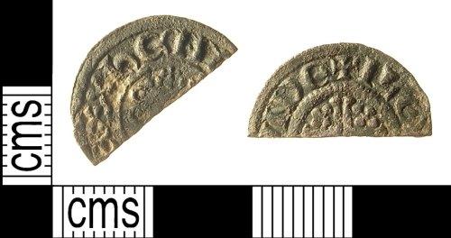 IOW-3FE6C4: IOW-3FE6C4 Medieval Coin: Cut Halfpenny of John