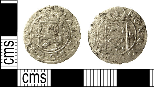 IOW-0892E6: Post-Medieval Coin: 1-Ore of Karl (Charles) XI of Sweden