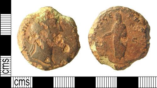 IOW-5FECC5: IOW-5FECC5 Roman Coin: Sestertius of Antoninus Pius