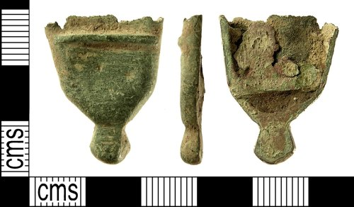 IOW-7D1643: IOW-7D164 Medieval to post-Medieval Scabbard Chape