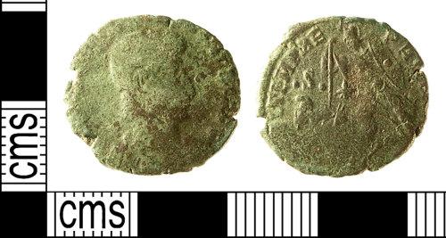 IOW-E001F0: IOW-E001F0 Roman Coin: Nummus of Constantius II