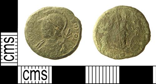 IOW-D7CFE7: IOW-D7CFE7 Roman Coin: Commemorative Nummus of the House of Constantine
