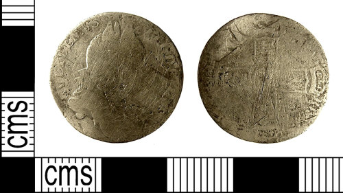 IOW-984433: IOW-984433 Post-Medieval Coin: Sixpence of William III