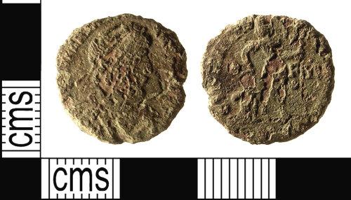 IOW-6F4F05: Roman Coin: Nummus of Valentinian I