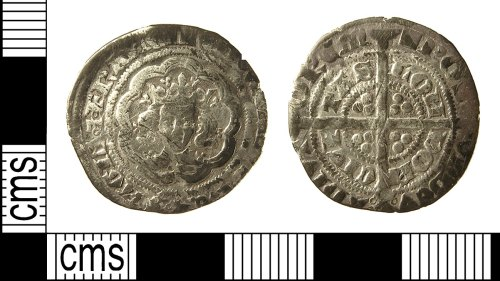 IOW-E664D8: IOW-E664D8 Medieval Coin: Halfgroat of Edward III