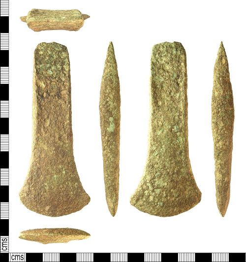IOW-242AF7: IOW-242AF7 Early Bronze Age Flat Axehead