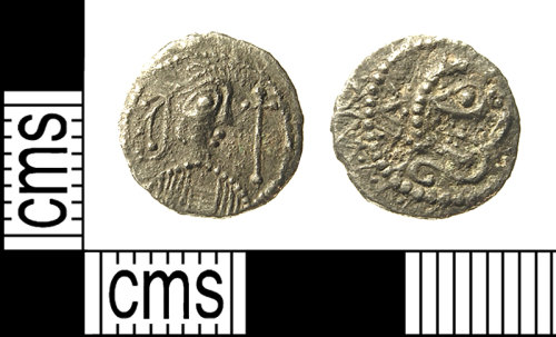 IOW-83FD95: IOW-83FD95 Early-Medieval (Anglo-Saxon) Coin: Series K, Type 33 Sceat