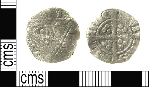 IOW-4B61F4: IOW-4B61F4 Medieval Coin: Irish Penny of Edward I