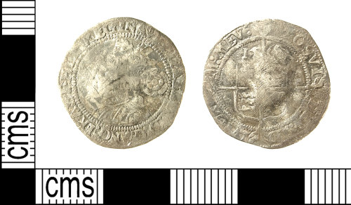 IOW-0F9F36: IOW-0F9F36 Post-Medieval Coin: Threepence of Elizabeth I