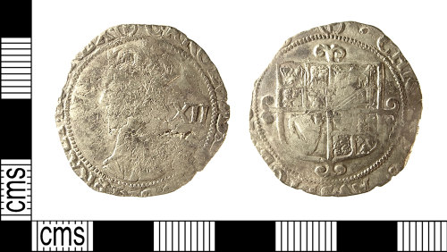 IOW-A032E3: IOW-A032E3 Post-Medieval Coin: Shilling of Charles I