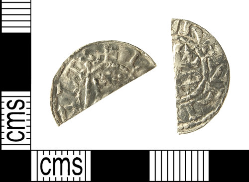 IOW-BEC671: IOW-BEC671 Medieval Coin: Cut Halfpenny of William I of Scotland