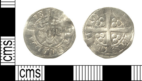 IOW-28F572: IOW-28F572 Medieval Coin: Penny of Edward I