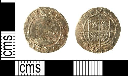IOW-2BC367: IOW-2BC367 Post-Medieval Coin: Halfgroat of Elizabeth I