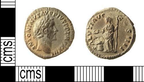 IOW-2BF031: IOW-2BF031 Roman Coin: Denarius of Antoninus Pius