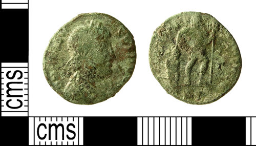 IOW-8396C7: IOW-8396C7 Roman Coin: Nummus of Valens