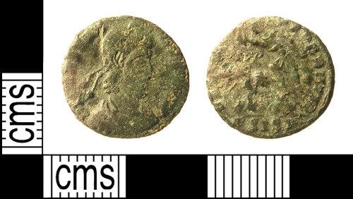 IOW-E36205: IOW-E36205 Roman Coin: Nummus of Constans or Constantius II