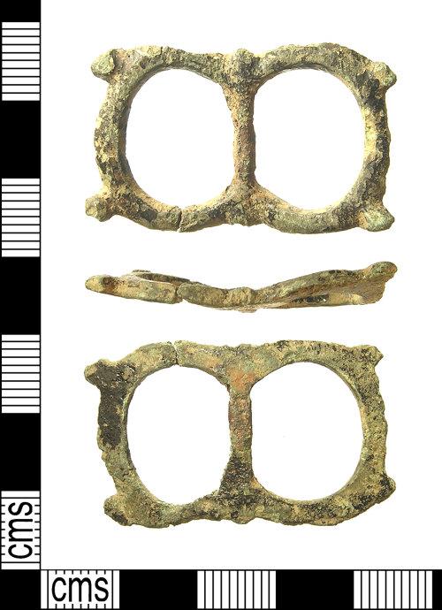 IOW-C34A80: IOW-C34A80 Post-Medieval Buckle