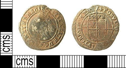 IOW-98F124: IOW-98F124 Post-Medieval Coin: Threepence of Elizabeth I