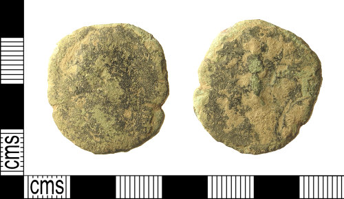 A resized image of IOW-9F4444 Roman Coin: Dupondius or As of Marcus Aurelius as Caesar