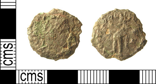 IOW-AB90B1: IOW-AB90B1 Roman Coin: Nummus of the House of Constantine