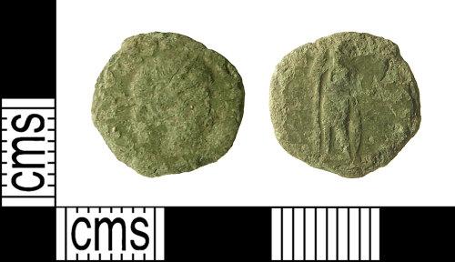 IOW-24A7E1: Roman Coin: Nummus of Constans