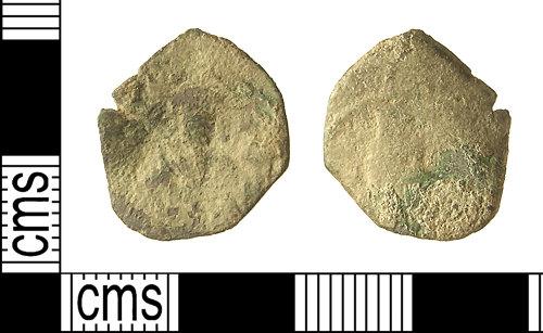 IOW-5FE084: IOW-5FE084 Roman Coin: Byzantine Tetarteron (possibly)