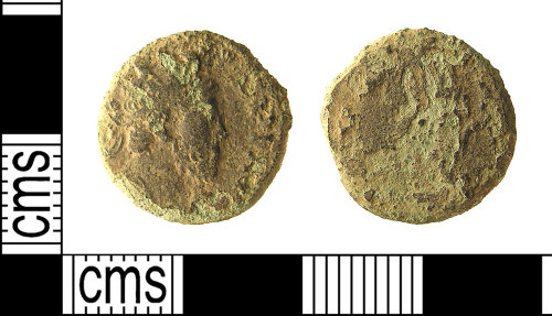 IOW-C6BE23: IOW-C6BE23 Roman Coin: Radiate of Tetricus I
