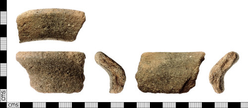 IOW-7529EC: Roman Ceramic Vessel  Rim Sherd of Vectis Ware (unclassified)