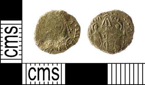 IOW-A2CF58: Roman Coin: Nummus of the House of Constantine (contemporary copy)