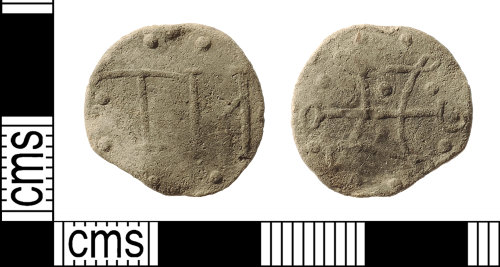 IOW-87ED44: Post-Medieval Lead Token