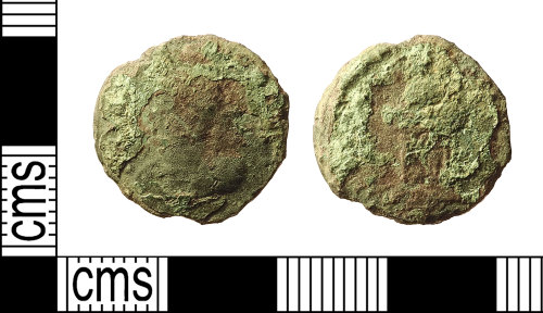 IOW-99D4EE: Roman Coin: Nummus of the House of Constantine