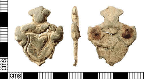 IOW-5C9A3E: Post-Medieval Lead Mount