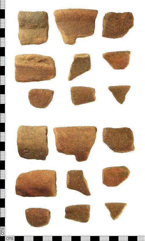 IOW-F7FC33: Roman Vectis Ware Rim Sherds