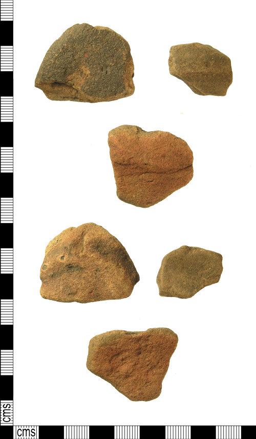 IOW-F80C70: Roman Vectis Ware Base Sherds