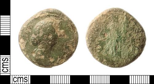 IOW-BA222F: Roman Coin: Sestertius of Faustina II under Marcus Aurelius